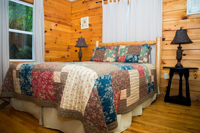 The second bedroom with a queen bed