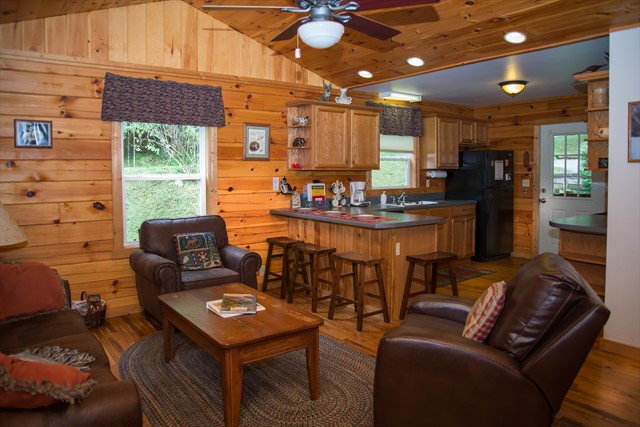 Comfortable seating and breakfast bar
