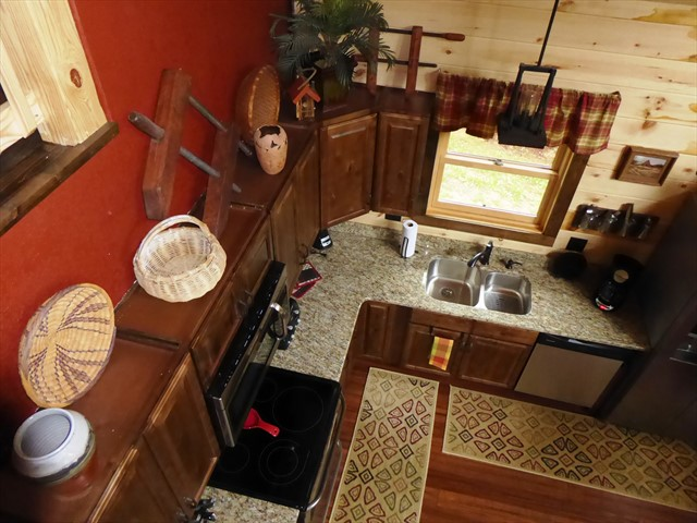 View of the kitchen from above