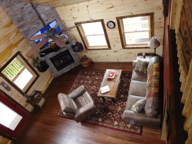 View of the living room from above